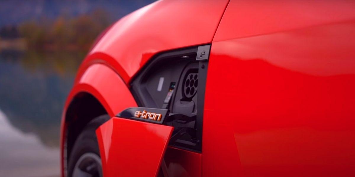 Audi e-tron 2021 зарядный разъём