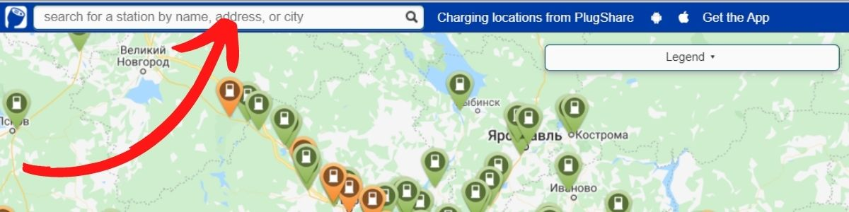 Инструкция использования карты заправок электромобиля