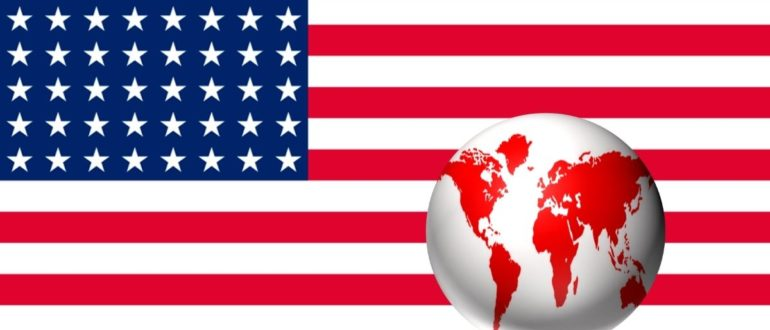 карта флаг сша
