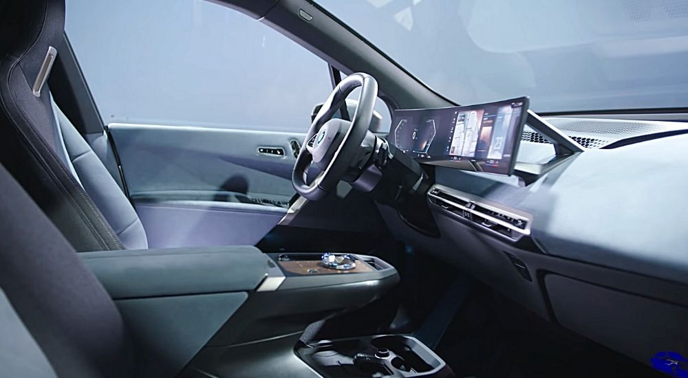 руль и панель управления вид с боку