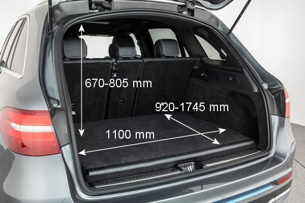 Размеры багажника F-CELL