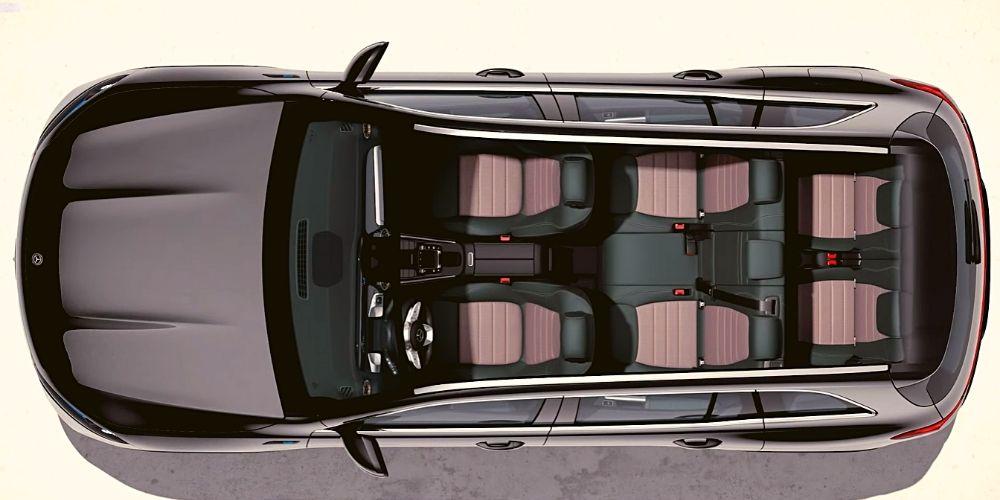 Схема сидений Mercedes EQB