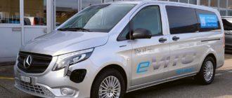 электрический микроавтобус Mercedes eVito Tourer