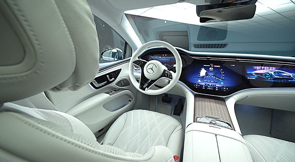 Интерьер Mercedes EQS картинка